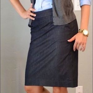 50%OFF Sale! Loft Dark Denim Stretch Pencil Skirt